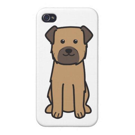 Border Terrier Dog Cartoon iPhone 4/4S Covers