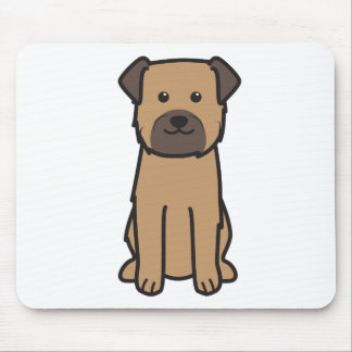 Border Terrier Dog Cartoon Mouse Mat