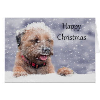 Border Terrier Dog Christmas Card