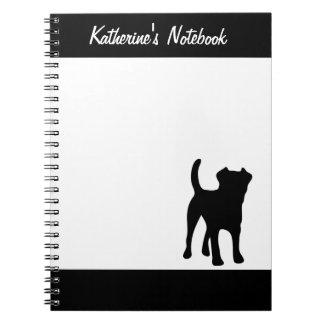 Border Terrier dog custom name notebook