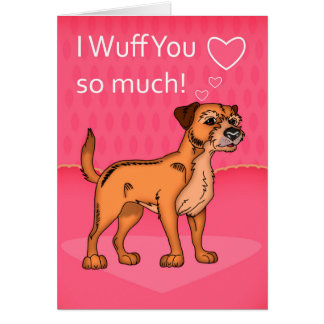 Border Terrier Dog Valentine's Day Card