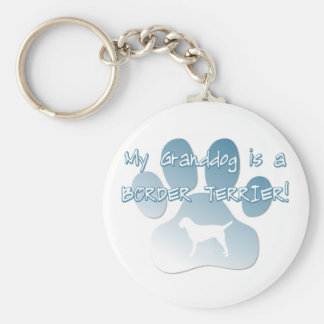 Border Terrier Granddog Basic Round Button Key Ring