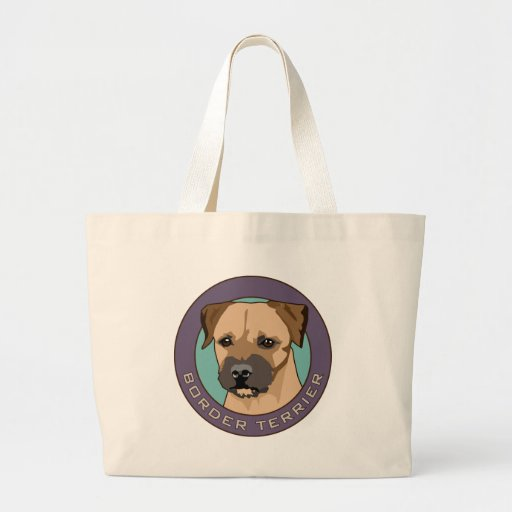 Border Terrier Head Study Tote Bag