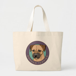 Border Terrier Head Study Large Tote Bag