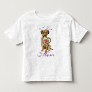 Border Terrier Heart Mom T Shirt