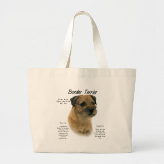 Border Terrier History Design Large Tote Bag