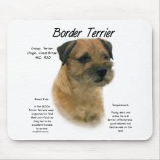 Border Terrier History Design Mouse Mat