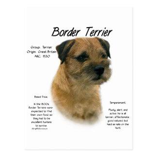 Border Terrier History Design Postcard
