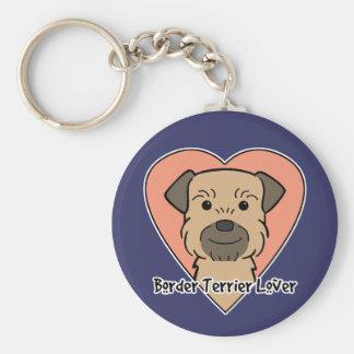 Border Terrier Lover Basic Round Button Key Ring