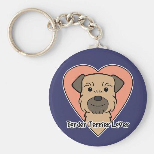 Border Terrier Lover Key Chain