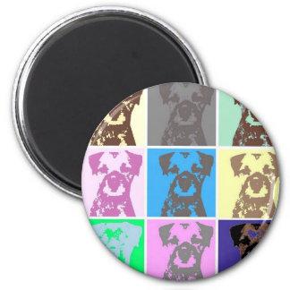 Border Terrier, part II 6 Cm Round Magnet