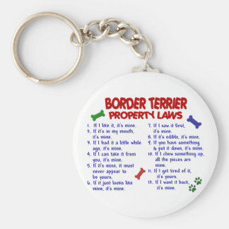 BORDER TERRIER Property Laws 2 Basic Round Button Key Ring