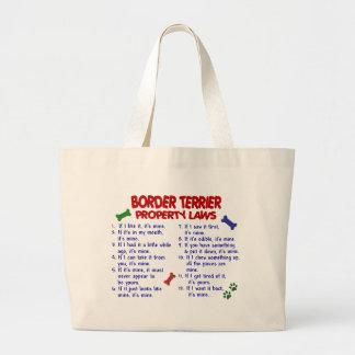 BORDER TERRIER Property Laws 2 Large Tote Bag