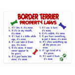 BORDER TERRIER Property Laws 2 Postcards