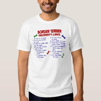 BORDER TERRIER Property Laws 2 Tshirts