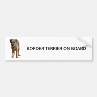 Border Terrier puppy dog cute, BUMPER STICKER