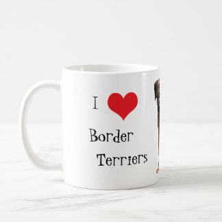 Border terrier puppy dog I love heart mug, gift Coffee Mug
