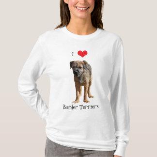 Border Terrier puppy dog I love hoody