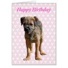Border Terrier puppy dog, puppy birthday card