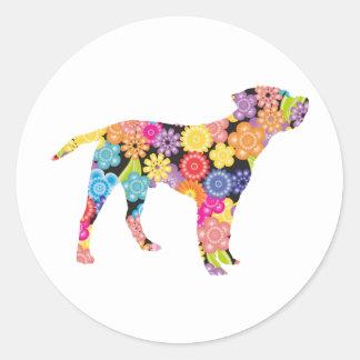 Border Terrier Round Sticker