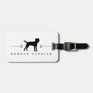Border Terrier silhouette -1- Luggage Tag