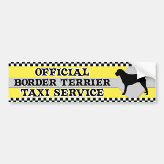 Border Terrier Taxi Service Bumper Sticker