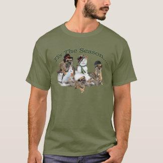 Border Terrier Tis The Season T-Shirt