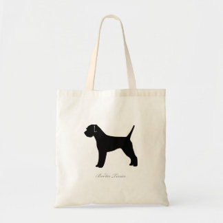Border Terrier Tote Bag (black silhouette)