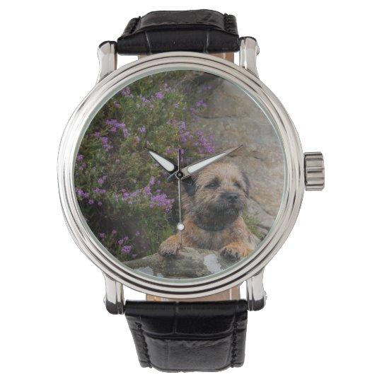 Border terrier wrist watch