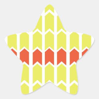Bordered Yellow Panel Fence Star Sticker