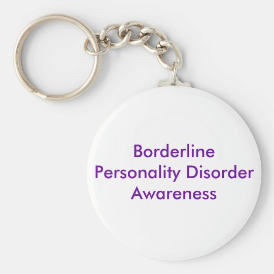 Borderline Personality Disorder Awareness Key Ring
