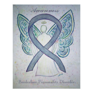 Borderline Personality Disorder Awareness Ribbon Poster