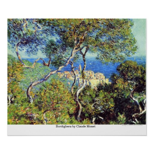 Bordighera by Claude Monet Poster