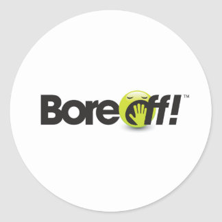 Bore Off Round Sticker