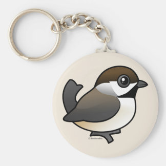 Boreal Chickadee Basic Round Button Key Ring