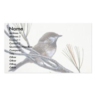 Boreal chickadee business card
