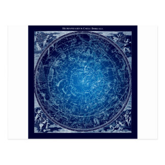 Boreal Hemysphere Sky constellations Postcard
