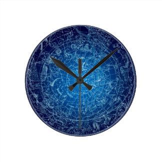 Boreal Hemysphere Sky constellations Wall Clock
