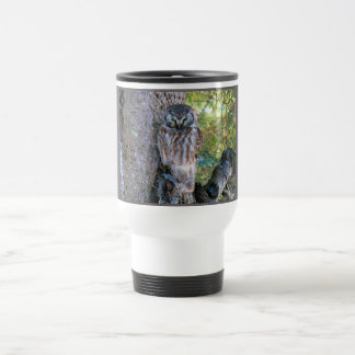 Boreal Owl Closeup Photo Stainless Steel Travel Mug