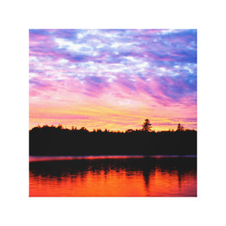 """Boreal Sunset"", Landscape Photo Print Gallery Wrap Canvas"