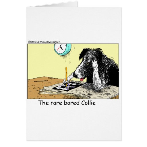 Bored Border Collie Funny Gifts Tees Collectibles Card