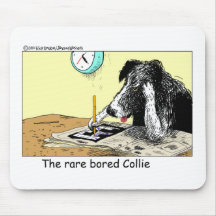Bored Border Collie Funny Gifts Tees Collectibles Mousemat