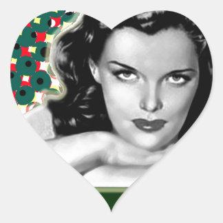 Bored Brunette - Happy Holidays Heart Sticker