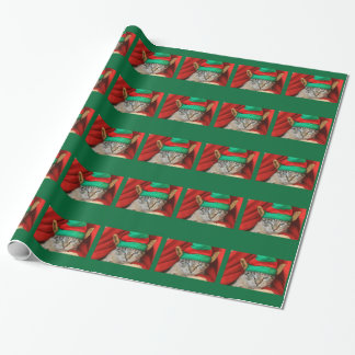 Bored Cat in Elf Hat Wrapping Paper
