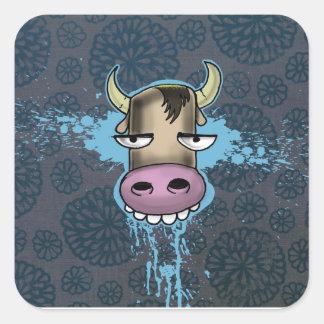 Bored Cow Square Sticker