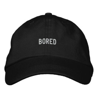 bored embroidered baseball caps