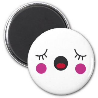 Bored Face 6 Cm Round Magnet