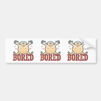 Bored Fat Man Bumper Sticker