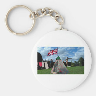 bored housewives basic round button key ring