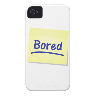 Bored Post-It Note iPhone 4 4s White Cover Design